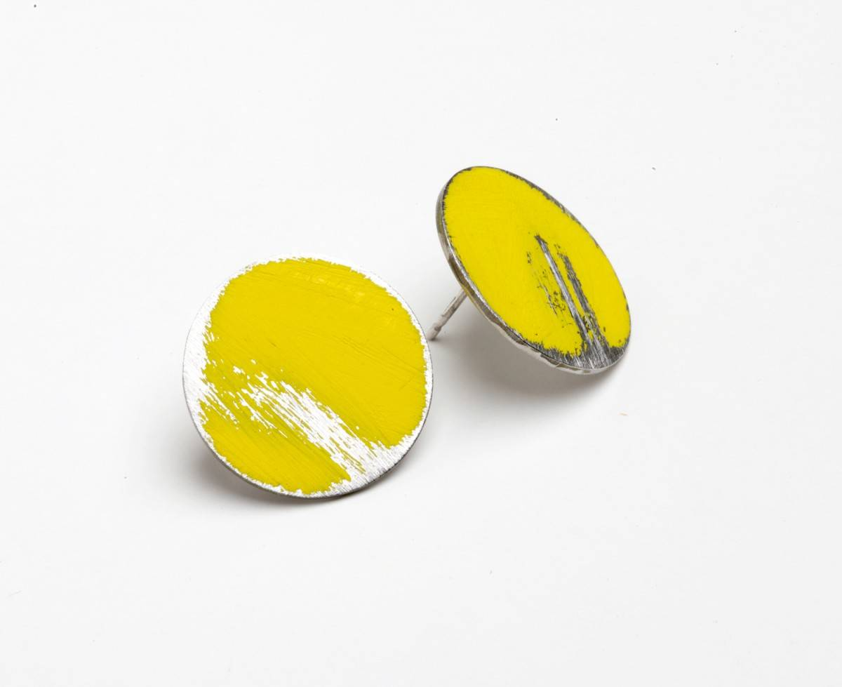 large buoy earrings