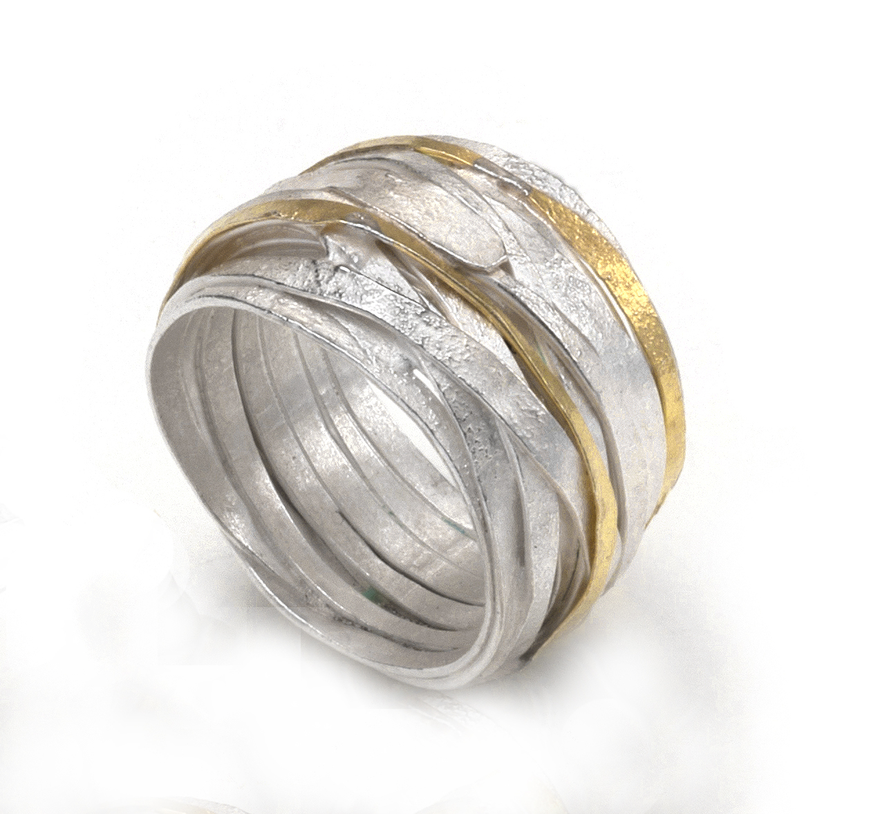 silver & gold ring 2